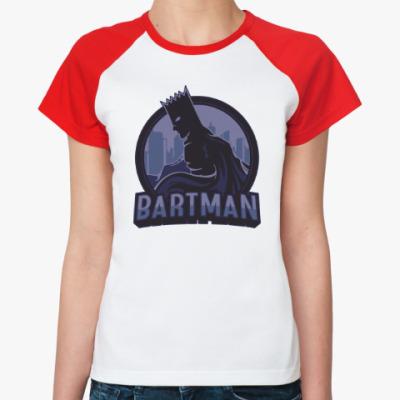 Женская футболка реглан Bartman