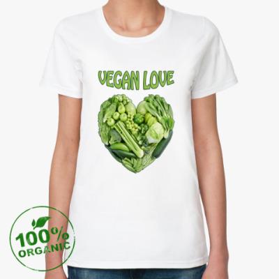 Женская футболка из органик-хлопка Вегетарианцы рулят!