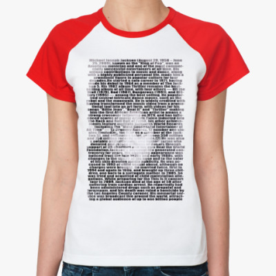 Женская футболка реглан Litle Michael Jackson