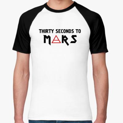 Футболка реглан Thirty seconds to mars