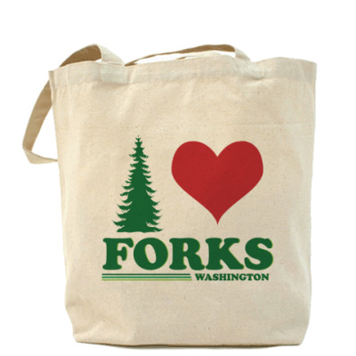 Сумка I love Forks.WA