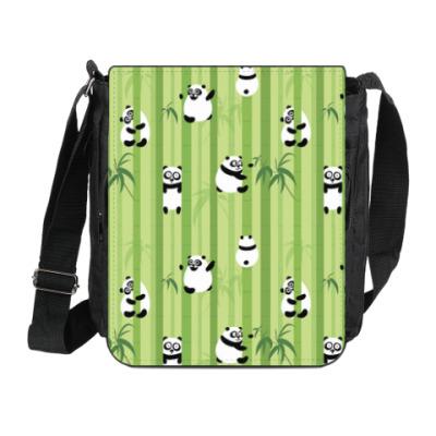 Сумка на плечо (мини-планшет) Панды