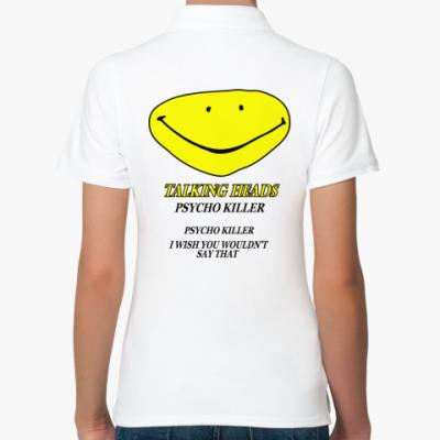 Женская рубашка поло Talking Heads