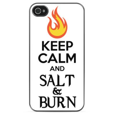 Чехол для iPhone Keep Calm and Salt & Burn