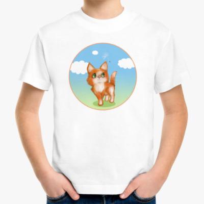 Детская футболка Котёна и одуванчик