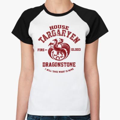 Женская футболка реглан Игра престолов.Таргариены