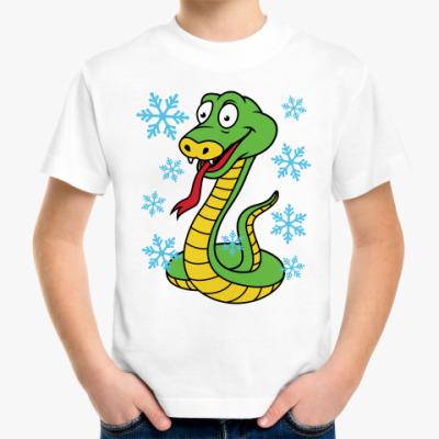 Детская футболка Новогодняя змея