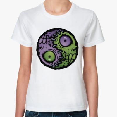 Классическая футболка Зомби инь-ян