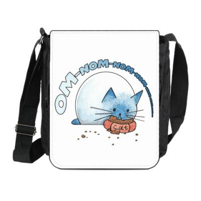 Сумка на плечо (мини-планшет) Ом-ном-ном-ном кот