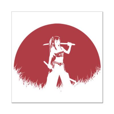 Наклейка (стикер) Аниме самурай