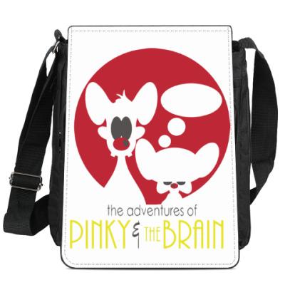 Сумка-планшет Приключения Пинки и Брэйна