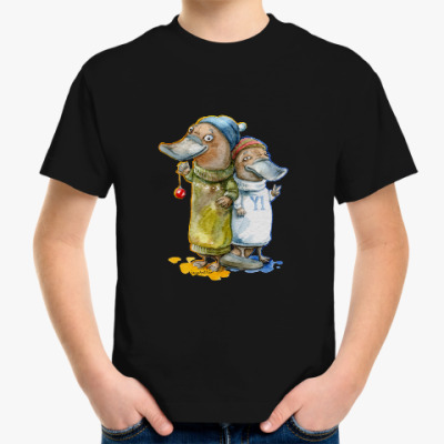 Детская футболка Утконосы