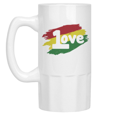 Пивная кружка 1 Love