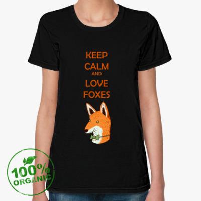 Женская футболка из органик-хлопка Любовь к лисичкам
