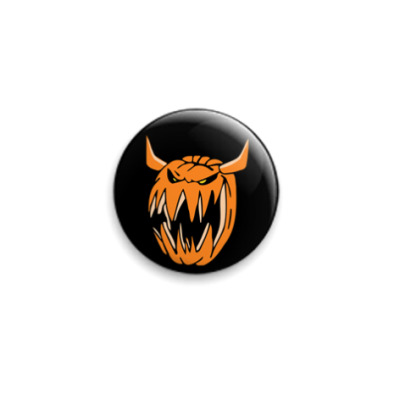 Значок 25мм Evil pumpkin