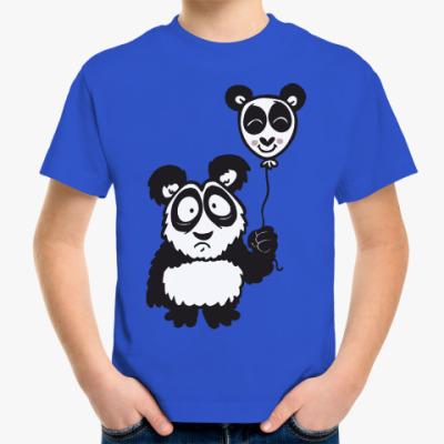 Детская футболка Панда с шариком
