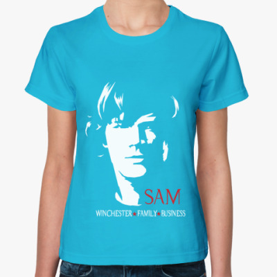 Женская футболка Сэм - Supernatural