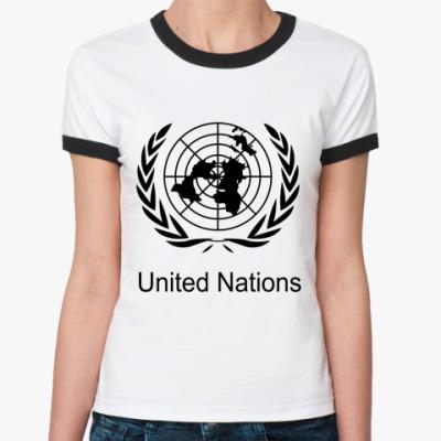 Женская футболка Ringer-T ООН