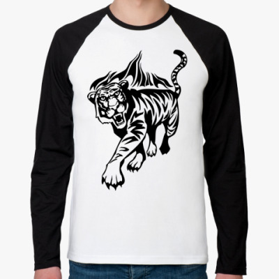 Футболка реглан с длинным рукавом Тигр