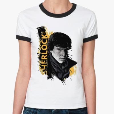 Женская футболка Ringer-T Шерлок Sherlock Holmes