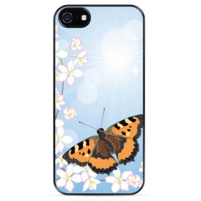 Чехол для iPhone вишневый цвет