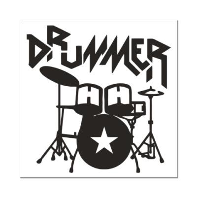 Наклейка (стикер) Барабанщик