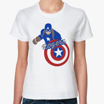 Классическая футболка Первый мститель:Противостояние