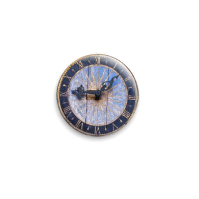"""Значок 25мм  """"Деревянные часы"""""""
