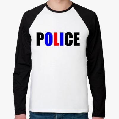 Футболка реглан с длинным рукавом POLICE