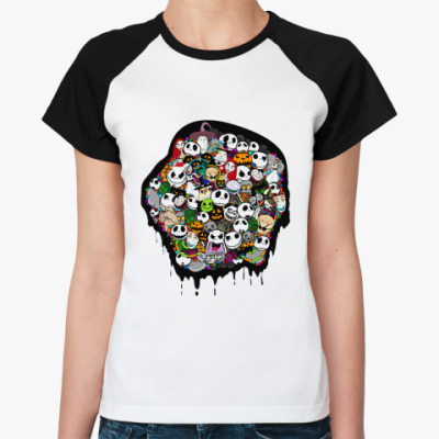 Женская футболка реглан Nightmare   Ж()