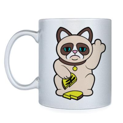 Кружка Tard Grumpy Cat Maneki Neko