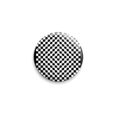Значок 25мм Черно-белое  25 мм