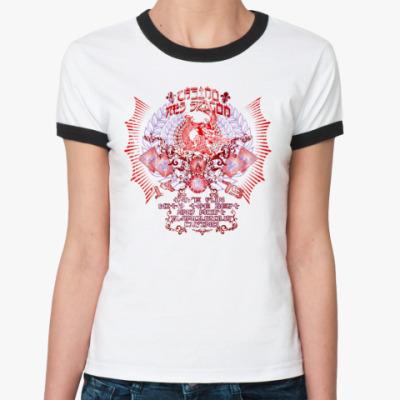 Женская футболка Ringer-T Dragon