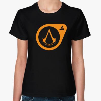 Женская футболка Half-Life Assassin's Creed