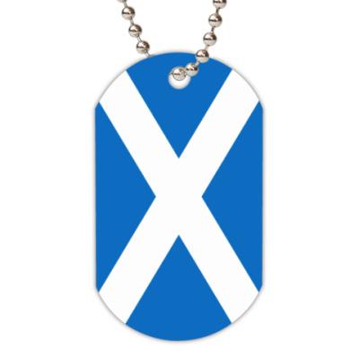 "Жетон dog-tag Жетон ""Флаг Шотландии"""