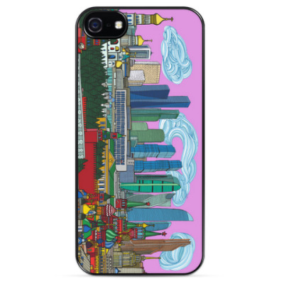 Чехол для iPhone MoscowCity Skyline Игоря Яновского
