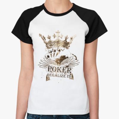 Женская футболка реглан Poker korona