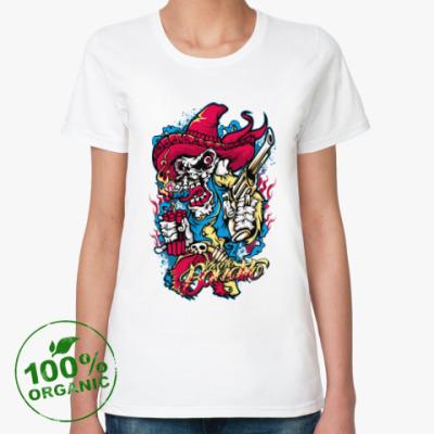 Женская футболка из органик-хлопка Гангстер