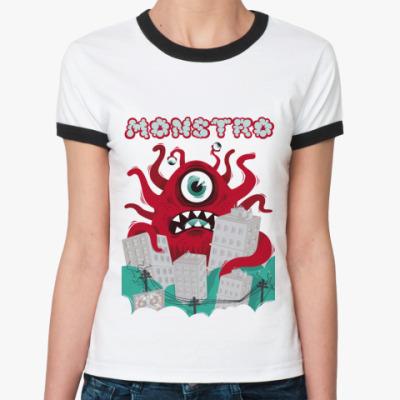 Женская футболка Ringer-T   Monstro