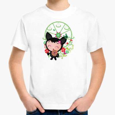 Детская футболка Котенок с леденцом