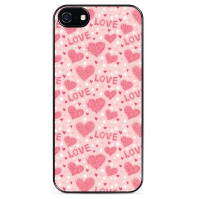Чехол для iPhone Сердечки