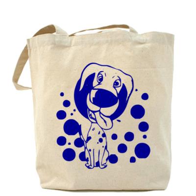 Сумка Холщовая сумка Собачка