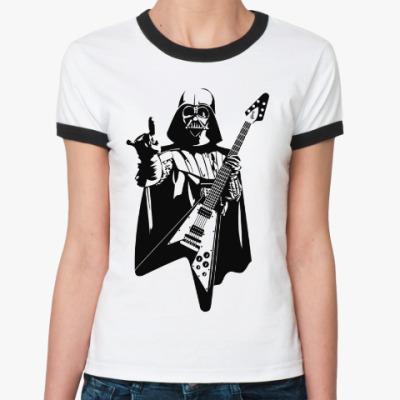 Женская футболка Ringer-T Darth Metal