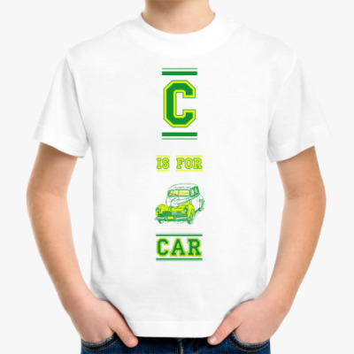 Детская футболка CAR