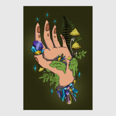 Постер Crystal Hand
