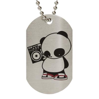 Жетон dog-tag Панда с магнитофоном