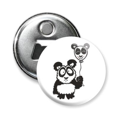 Магнит-открывашка Панда с шариком