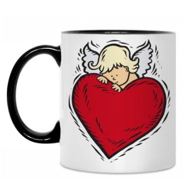 Кружка Ангел и сердце