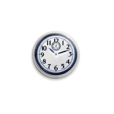 Значок 25мм Часы