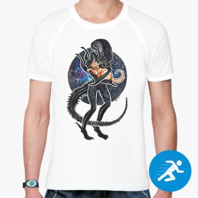 Спортивная футболка Чужой и Кот Alien 1979